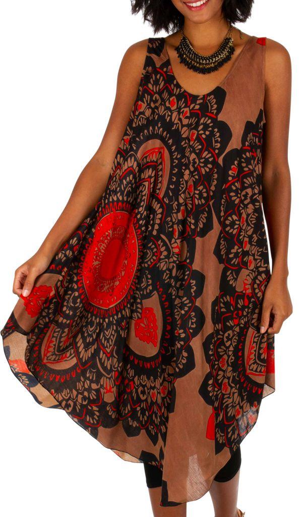 Robe de plage courte et ample à bretelles larges Janna 306190