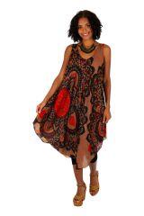 Robe de plage courte et ample à bretelles larges Janna 306191