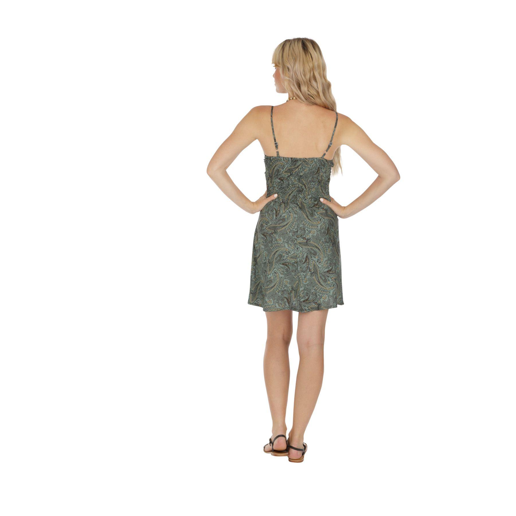 Robe de plage courte imprimé bohème caraco pour femme 318069
