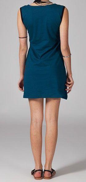 Robe de plage en coton léger bleue Jaina 269124