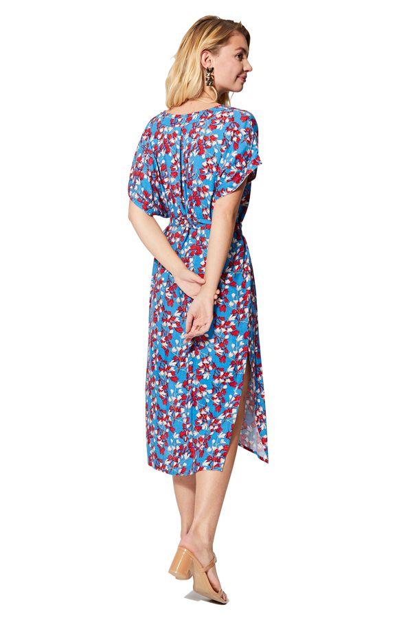 Robe de plage été femme imprimé floral et bohème Nadine