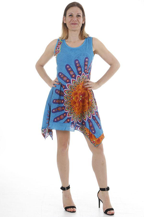 Robe de plage femme ethnique et très colorée Hadidja 311728