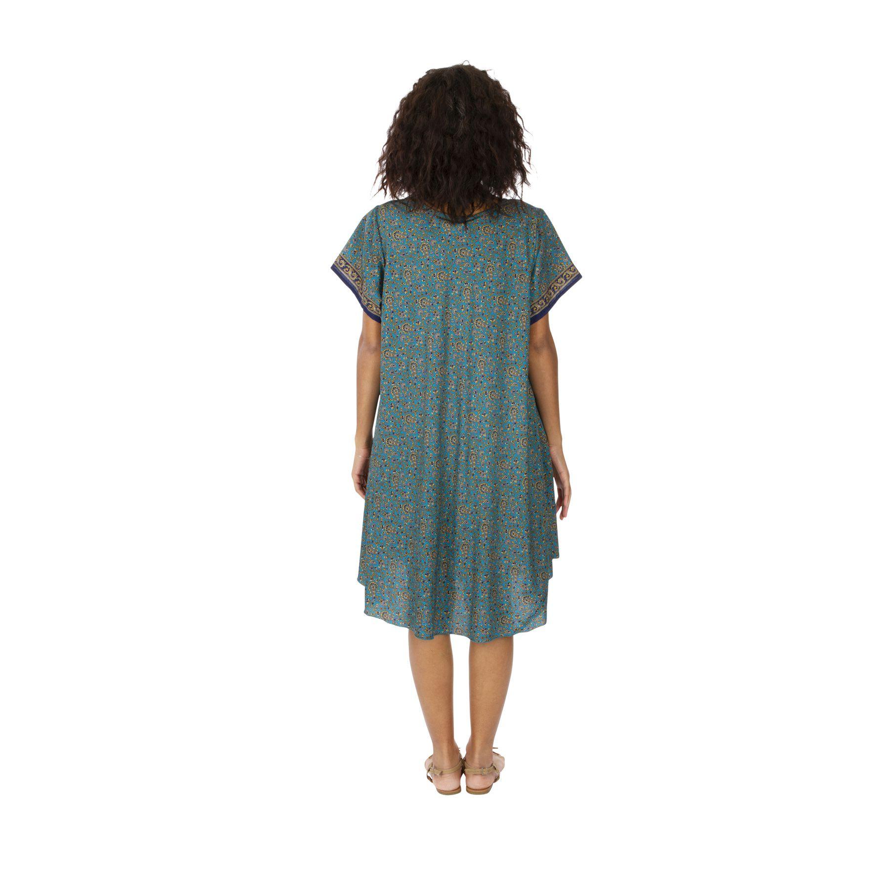 Robe de plage femme imprimé bohème été pas cher Kassie