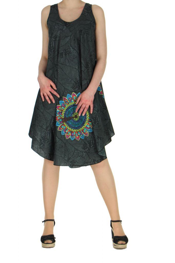 Robe de plage noire colorée Gemma 267593