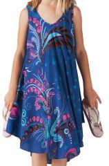 Robe de Plage pour fille Colorée Bleue et Rose Penny 280209