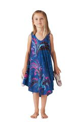 Robe de Plage pour fille Colorée Bleue et Rose Penny 280210