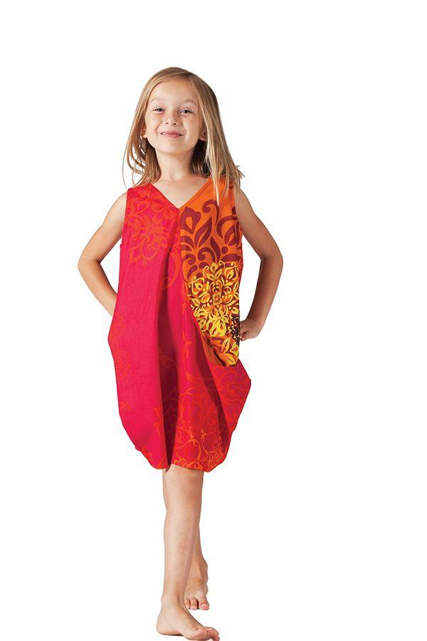 Robe de plage pour Fille Sally Ethnique et Fantaisie Rouge 279874