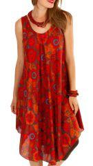 Robe de plage pour un un look bohème avec son imprimé fleuri Gilda 306208