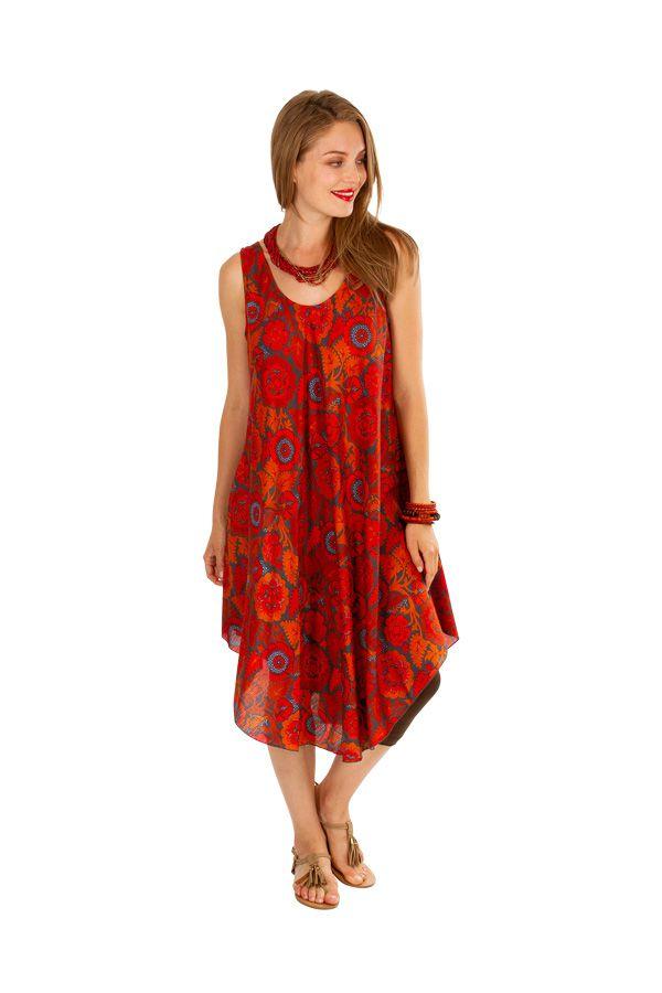 Robe de plage pour un un look bohème avec son imprimé fleuri Gilda 306209