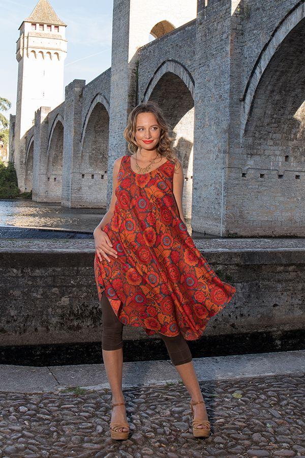 Robe de plage pour un un look bohème avec son imprimé fleuri Gilda 306210