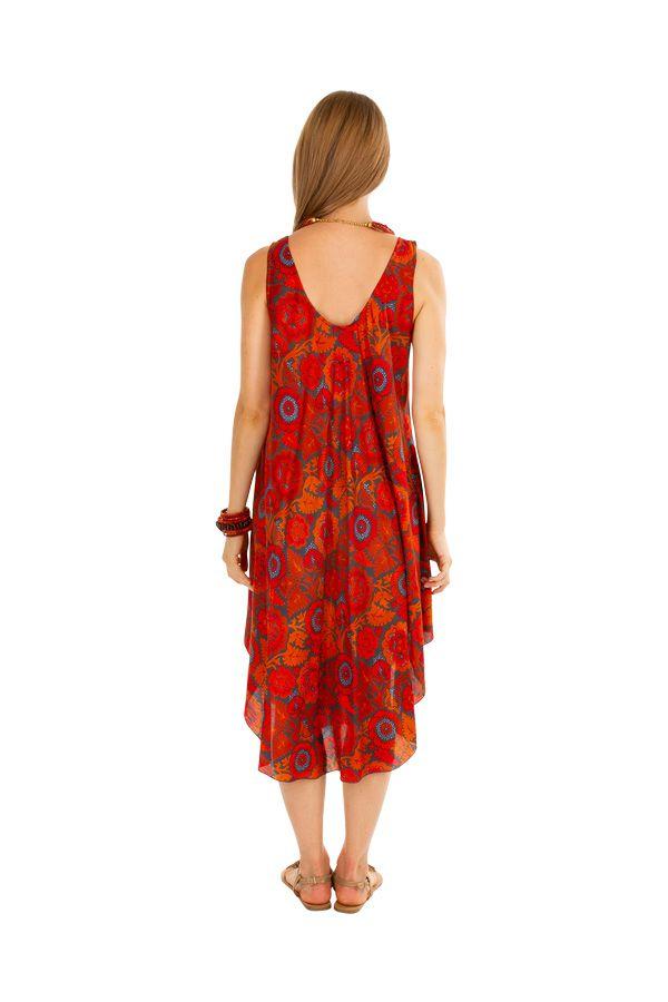 Robe de plage pour un un look bohème avec son imprimé fleuri Gilda 306211