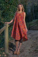Robe de plage pour un un look bohème avec son imprimé fleuri Gilda 306212