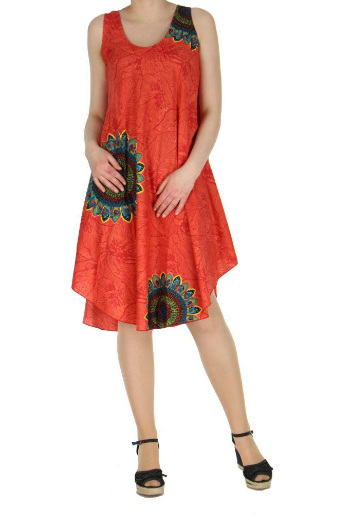 Robe de plage rouge colorée Gemma 267595