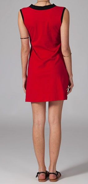 Robe de plage rouge en coton Jaelle 269122