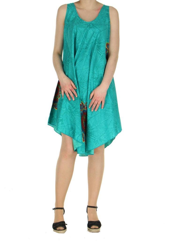 Robe de plage turquoise colorée Gemma 267591