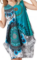 Robe de plage Turquoise pour Fille Sally Ethnique et Fantaisie 279875