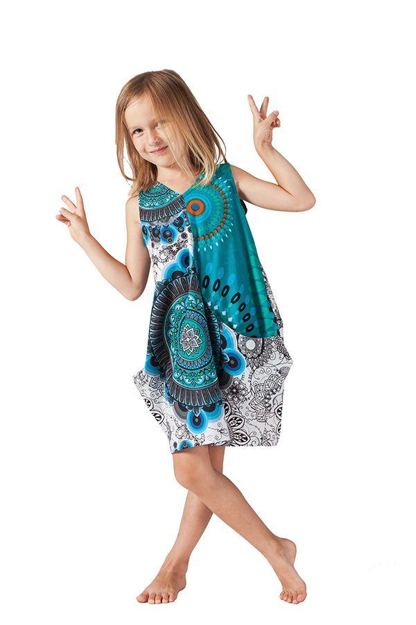 Robe de plage Turquoise pour Fille Sally Ethnique et Fantaisie 279876