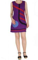 Robe de plage violette Fiona 268920