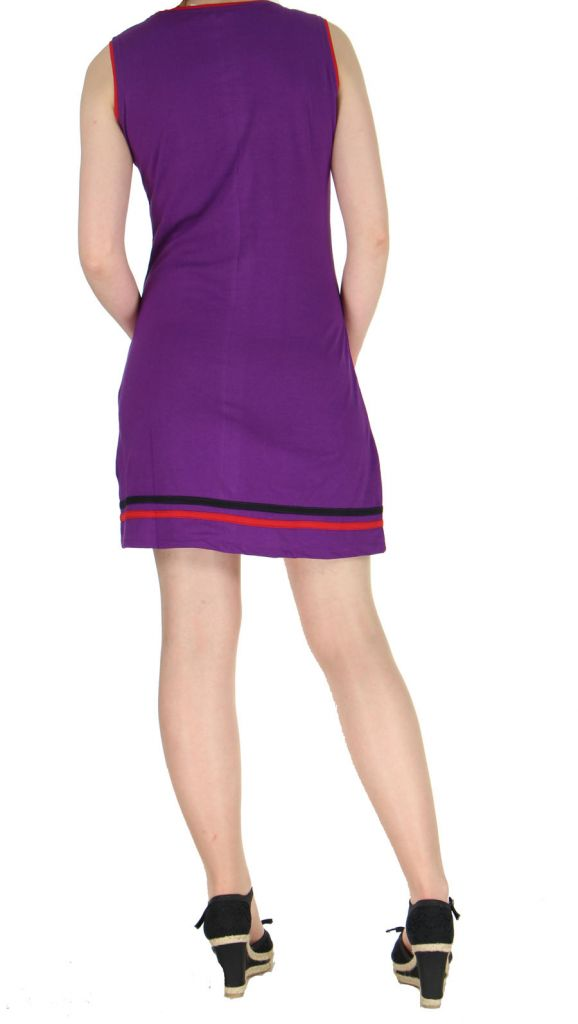 Robe de plage violette Fiona 268921