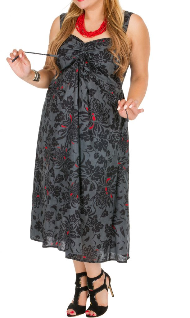 8d6b3208091 Robe de soirée fleurie femme grande taille Lounyma 309262. Loading zoom