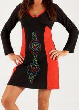 Robe de soirée Noire et Rouge Originale et Féminine Vitaly 279679