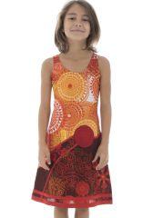 Robe débardeur été pour enfant imprimée et originale orange Suala 294012