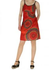 Robe décontractée rouge fany 260835