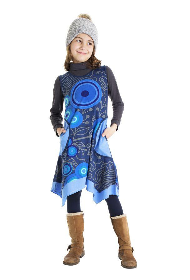 Robe déstructurée sans manches pour fille 302196