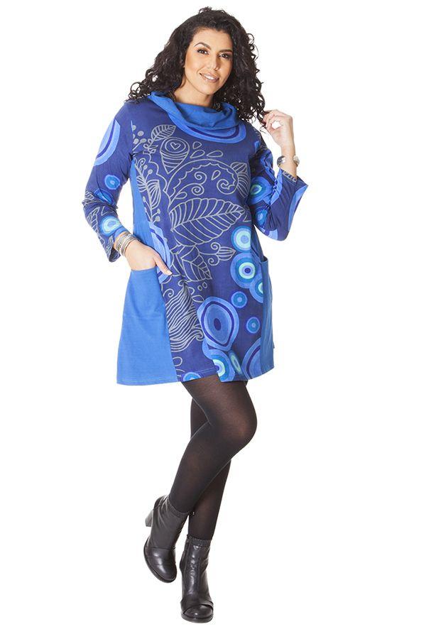 Robe effet col roulé pour femme Pulpeuse Originale et Colorée Hindy 286139