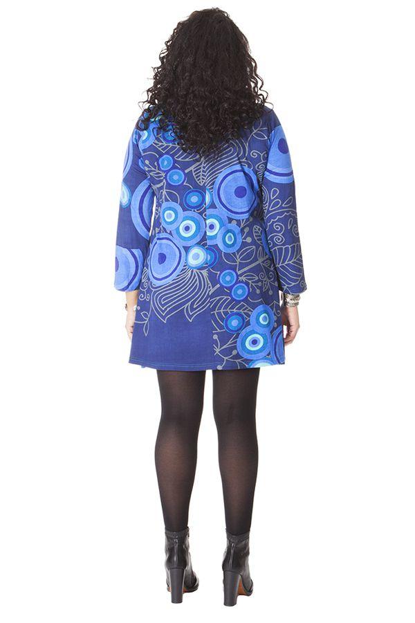 Robe effet col roulé pour femme Pulpeuse Originale et Colorée Hindy 286140