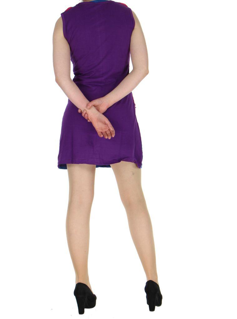 Robe effet déchirée violette Minie 268343