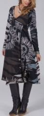 Robe effet portefeuille Ethnique et Colorée Lilwen Nature 274987