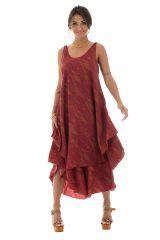robe élégante a larges bretelles avec motifs ethniques  Glinga 289832