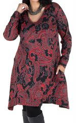 Robe en coton manches longues et col en V Pyrya 301939