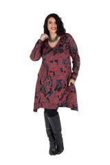 Robe en coton manches longues et col en V Pyrya 301940