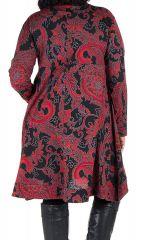 Robe en coton manches longues et col en V Pyrya 301941