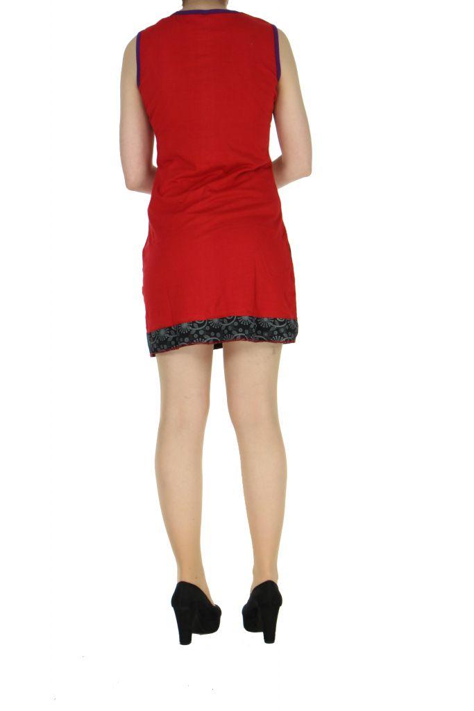 Robe en coton rouge Samia 268388