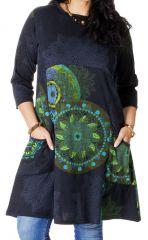 Robe en Grande Taille Originale et Ethnique Artik Anthracite 286754