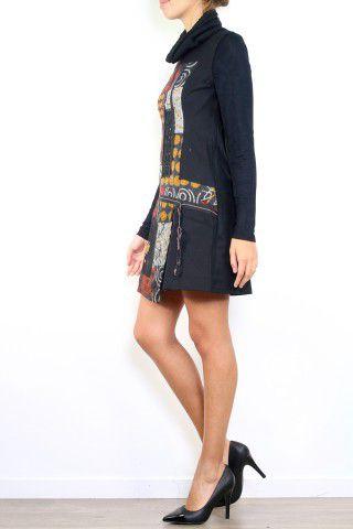 Robe en laine hiver style originale et colorée Sania 302625