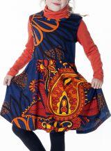 Robe enfant évasée avec un imprimé ethnique coloré 287385