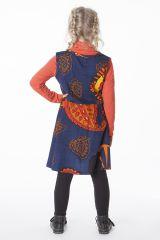 Robe enfant évasée avec un imprimé ethnique coloré 287387