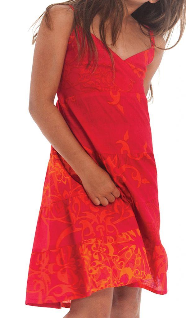 robe enfant rose ethnique et colorée Pomette 280526