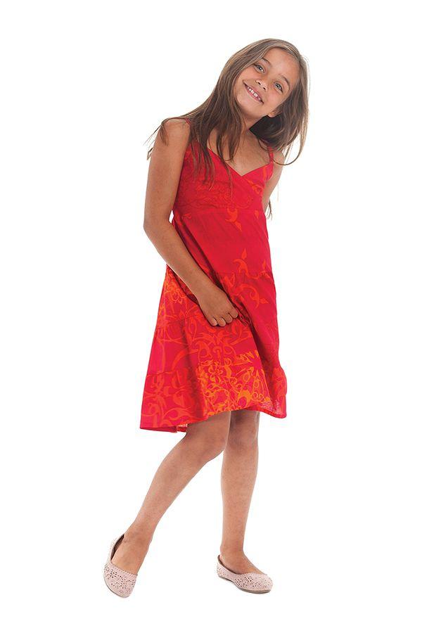 robe enfant rose ethnique et colorée Pomette 280527