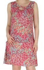 Robe estivale Corail à larges bretelles Imprimée et Colorée Eloise 283716