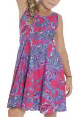 Robe estivale pour enfant avec imprimés fantaisies rose Lola 294567