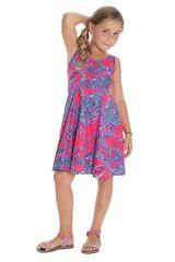 Robe estivale pour enfant avec imprimés fantaisies rose Lola 294568