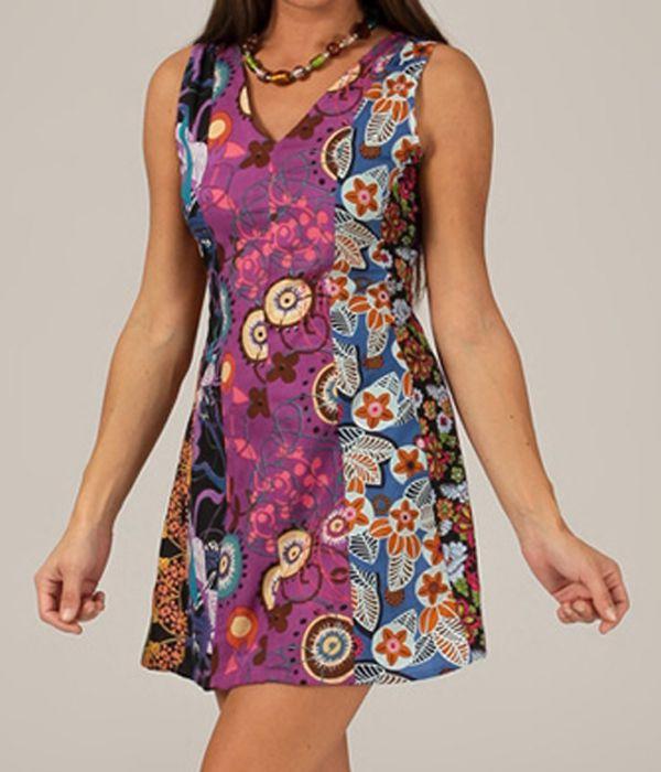 Robe été à fleurs pas chere bohème femme Marzy 315135