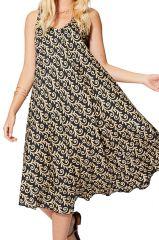 Robe été fluide femme ethnique chic ample et originale Saga