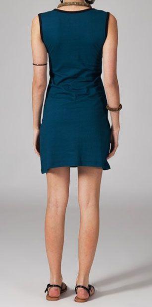 Robe ethnic noire et bleue Sabria 269047