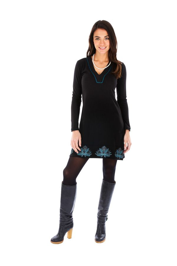 Robe ethnique à manches longues chic et glamour Ikire 313444
